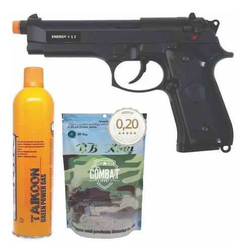 Pistola Airsoft Gbb Beretta Saigo M92 Blowback + Carga + Bbs