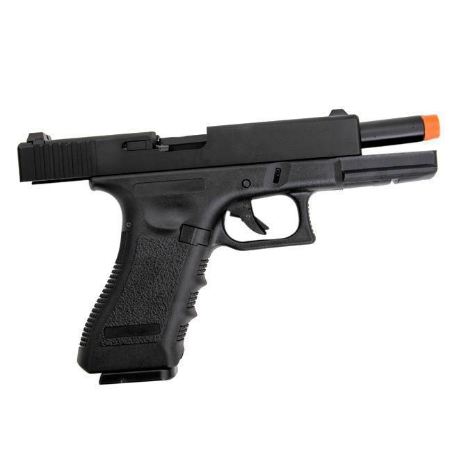Pistola Airsoft Gbb Glock R17 Polímero Blowback + Green Gás + Speedloader