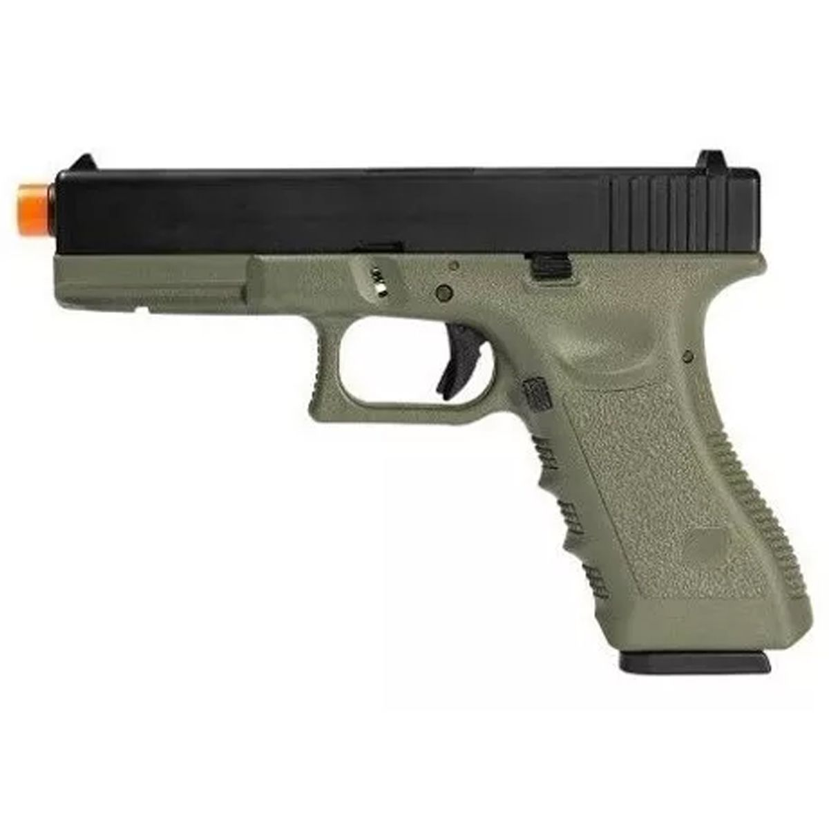 Pistola Airsoft Gbb Green Gás R17 Olive Blowback 6mm