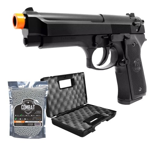Pistola Airsoft Kwc M92 Beretta Spring 6mm Mostruário + Kit