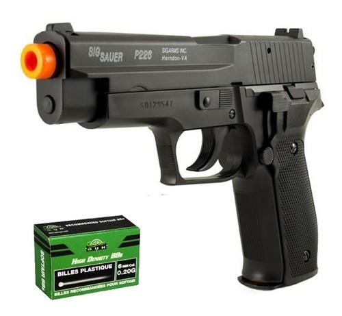 Pistola Airsoft Sig Sauer P226 Spring Slide Metal Cybergun 6mm