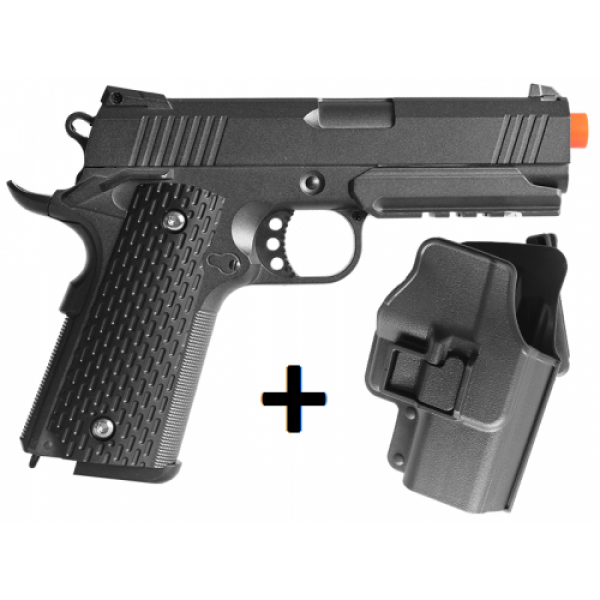 Pistola Airsoft Spring 1911 G25+ Full Metal 6mm Coldre Grátis