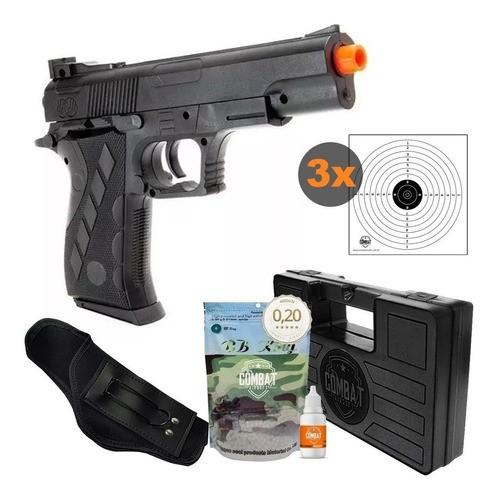 Pistola Airsoft Spring 1911sw Vigor + Case + Bbs + Coldre