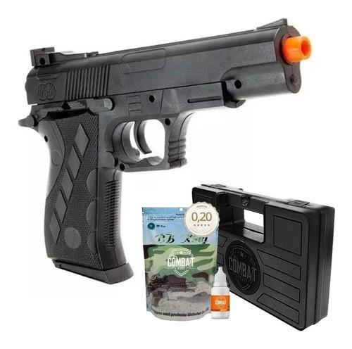 Pistola Airsoft Spring 1911sw Vigor Colt 1911 + Case + Bbs