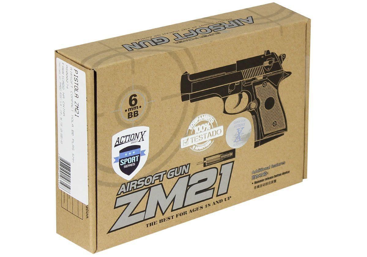 Pistola Airsoft Spring Cyma ZM21 Beretta Compact FullMetal
