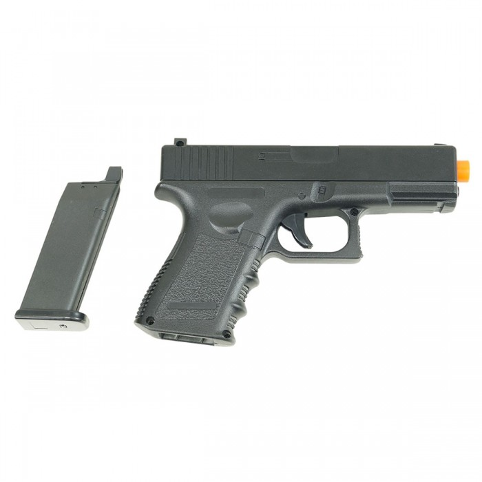 Pistola Airsoft Spring Glock G15+ Full Metal 6mm Coldre Grátis