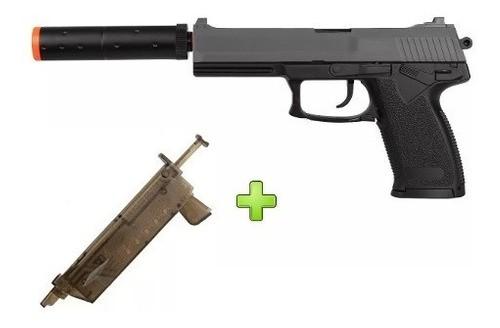 Pistola Airsoft Spring Hk Usp M23 + Speed Loader