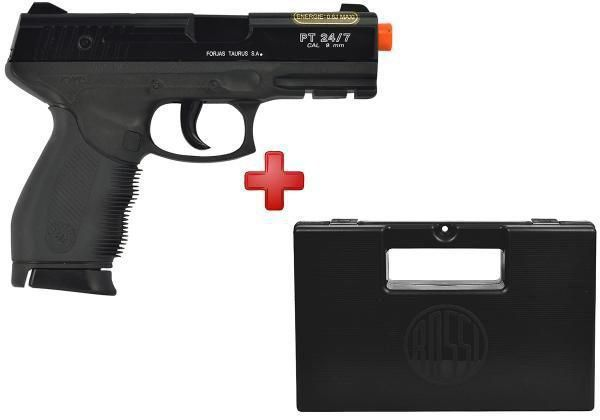 Pistola Airsoft Spring Cybergun PT24/7 6mm + Magazine Extra + Case