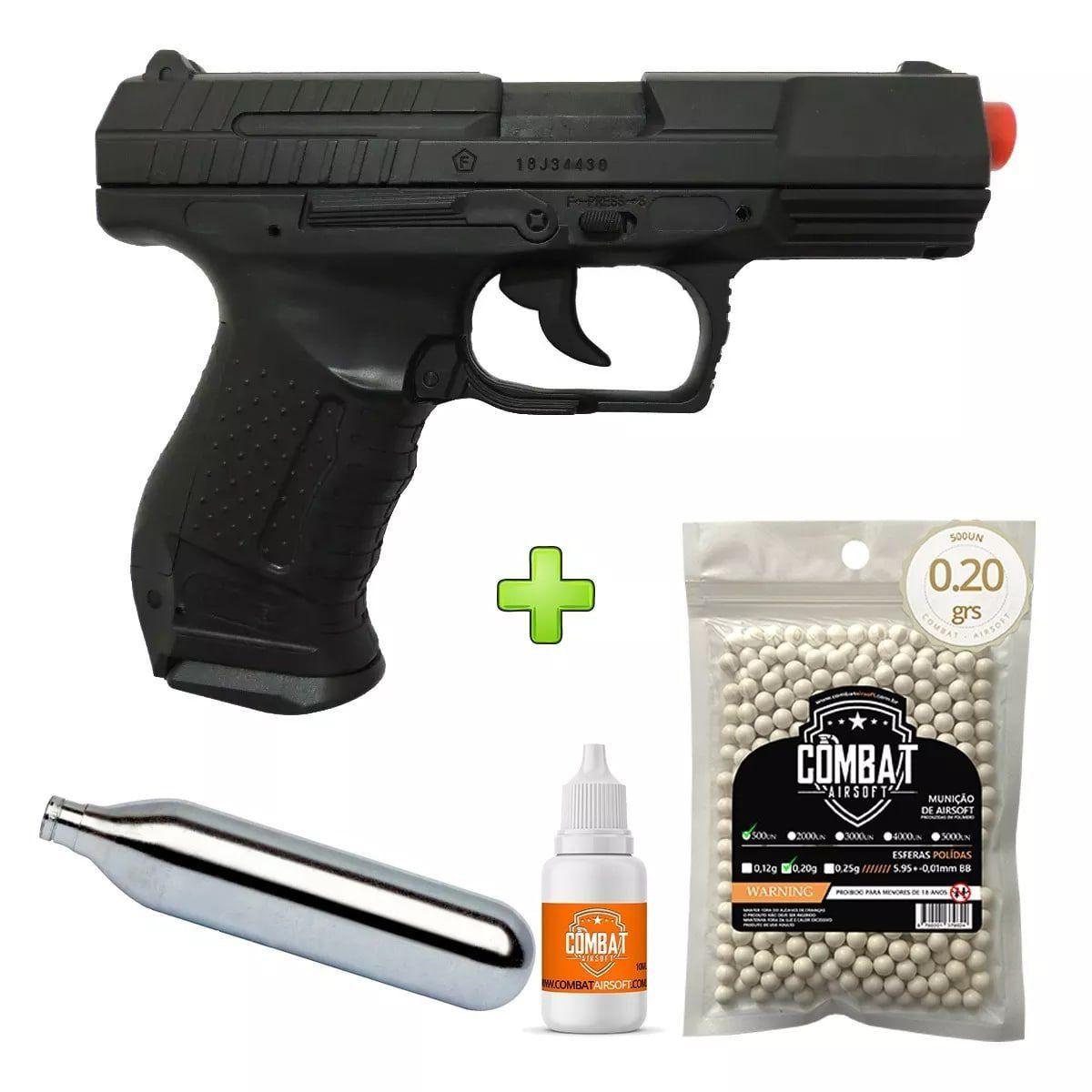 Pistola Airsoft Walther P99 Umarex Licenciada Com Marcações