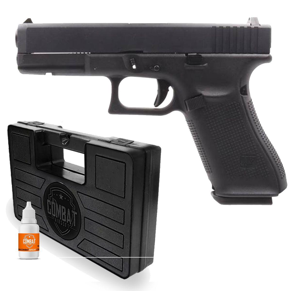 Pistola Airsoft We Gbb G17 Gen5 Mostruário + Maleta + Óleo