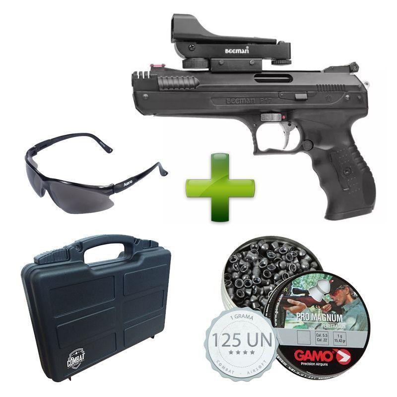 Pistola Beeman 2006 5.5 Red Dot+ Case + Chumbinhos + Óculos