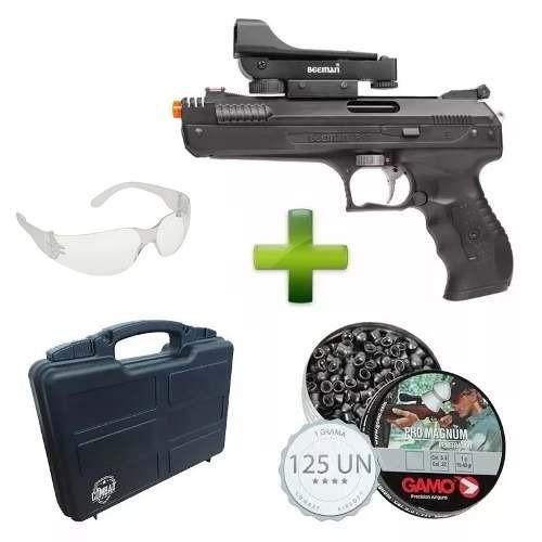 Pistola Beeman 5.5 Red Dot + Case + Chumbinhos + Óculos