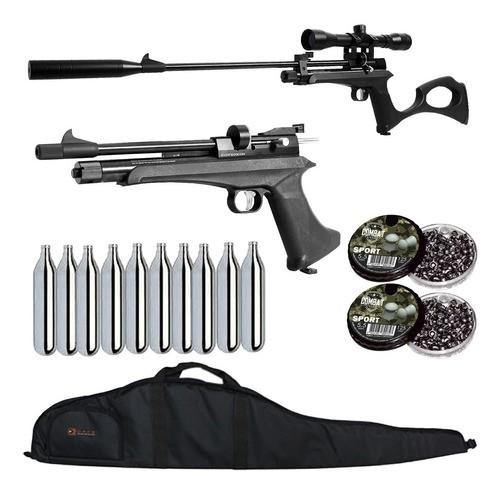 Pistola Carabina Co2 Artemis Cp2 5.5 + Luneta +kit Capa Dacs