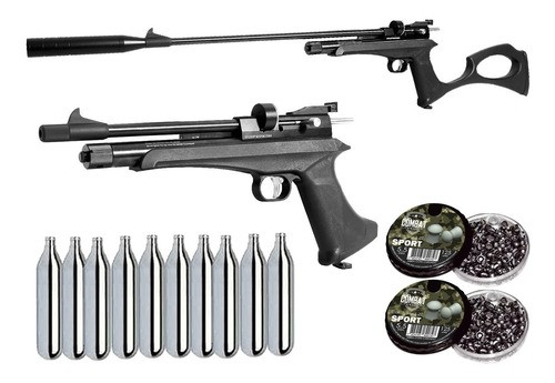 Pistola Carabina Co2 Artemis Cp2 5.5mm 510 Fps + 2cx Chumbo + 10 Co2