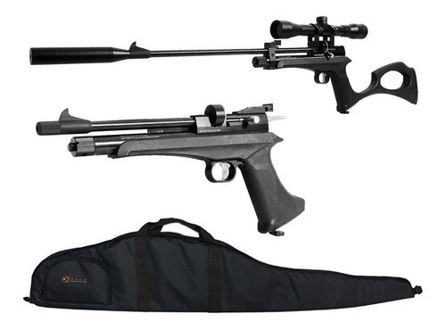Pistola Carabina Co2 Artemis Cp2 5.5mm + Luneta + Capa Dacs