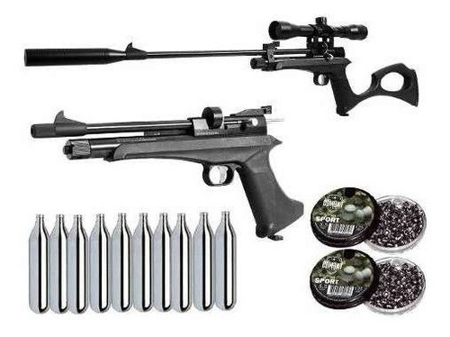 Pistola Carabina Co2 Artemis Cp2 5.5mm Luneta + Chumbo + Co2