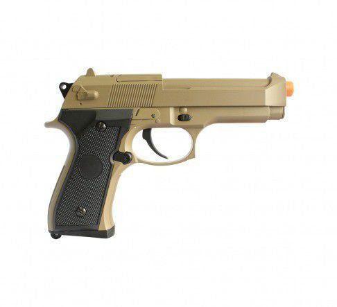 Pistola Airsoft Elétrica Beretta M92f Tan CM126 6mm - CYMA