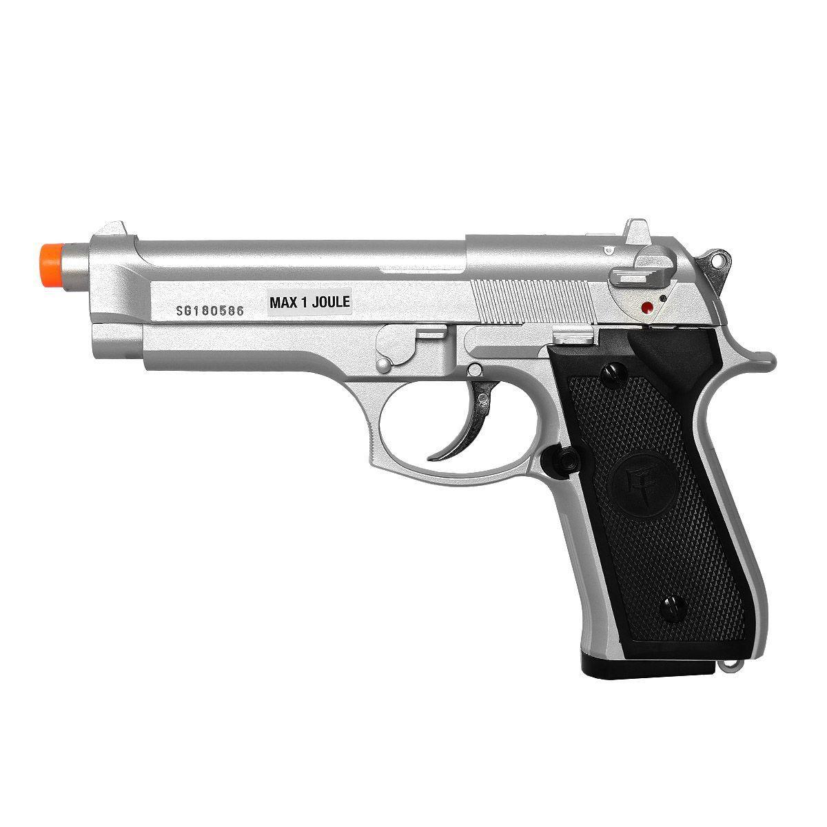 Pistola De Airsoft Green Gas Saigo Skyway Beretta 92 Silver