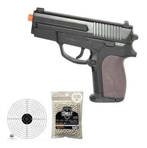 Pistola De Airsoft P618 Spring Rossi Cal 6.0mm + 500bbs + Alvo