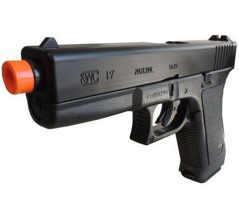Pistola De Airsoft Spring Kwc Glock G17 + 2000 Bbs + Maleta  - Combat Airsoft