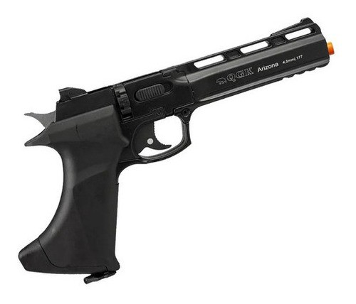 Pistola De Pressão Arizona Black Qgk Co2 4.5mm 8 Tiros