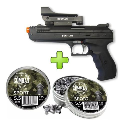 Pistola De Pressão Beeman 2006 Cal. 5.5 + Red Dot +2 Cx Chumbinho