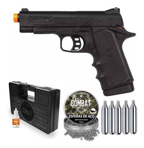 Pistola De Pressão Co2 Gamo V-3 4,5mm + Esfera + Co2 + Case