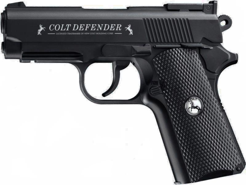 Pistola de Pressão 1911 Colt Defender Co2 FullMetal 4.5mm + Cilindro  - Combat Airsoft