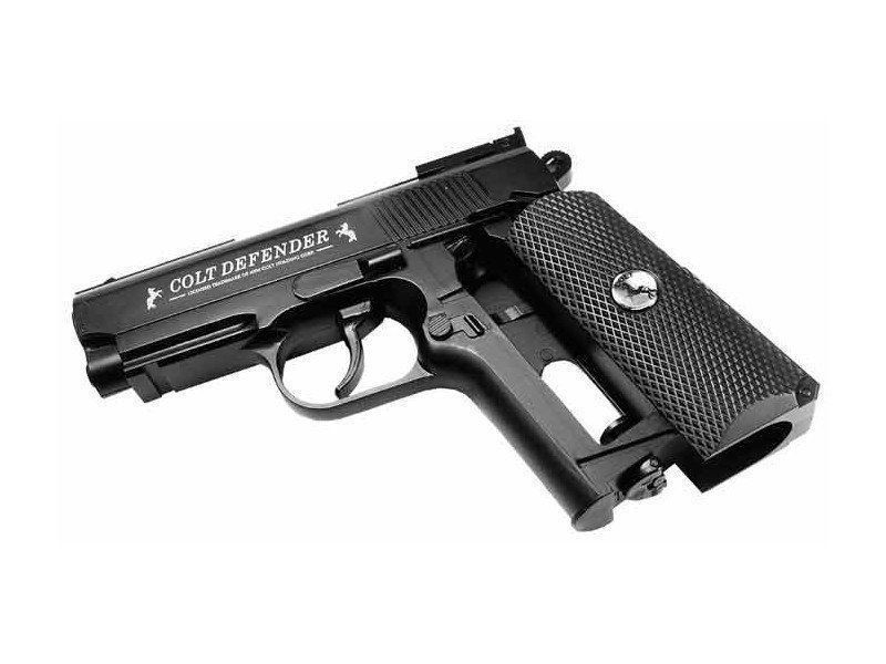 Pistola de Pressão 1911 Colt Defender Co2 FullMetal 4.5mm + Cilindro