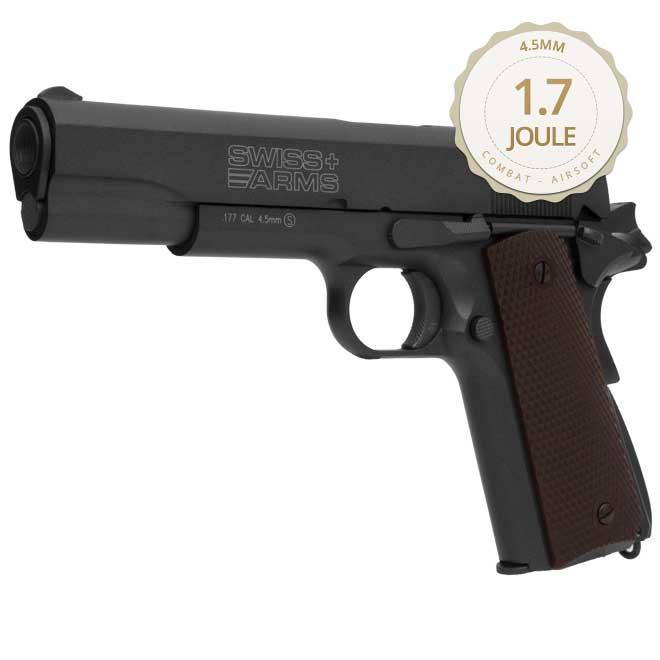 Pistola De Pressão Gás Gbb Co2 Sa P1911 Blowback Full Metal