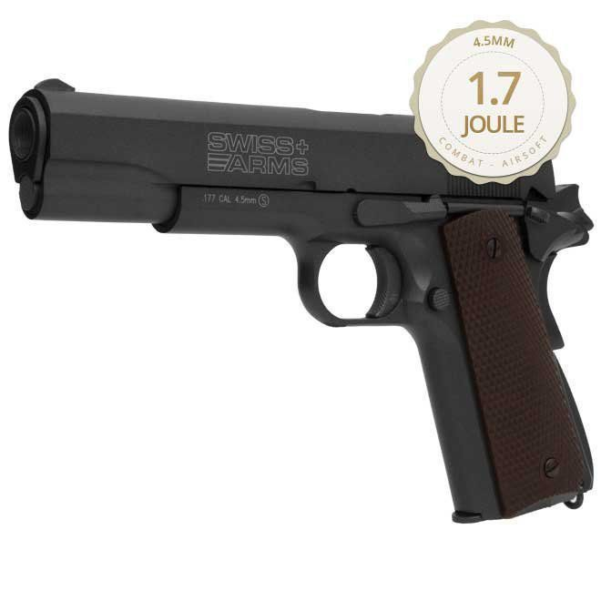 Pistola De Pressão Gás Gbb Co2 Sa P1911 Blowback Full Metal