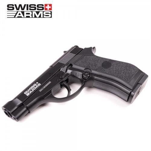 Pistola de Pressão P84 SWISS ARMS Co2 FullMetal 4.5mm + Cilindro