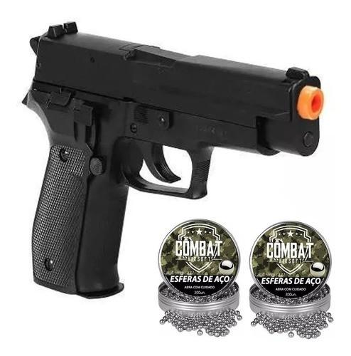 Pistola De Pressão Sig Sauer P226 4,5mm Metal +600 Esferas