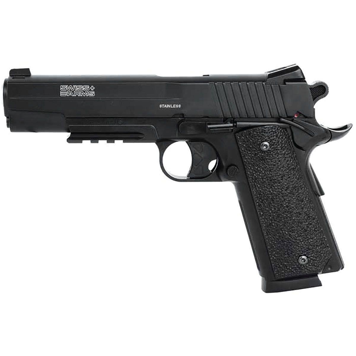 Pistola de Pressão SWISS ARMS CO2 SA 1911 4,5MM Mostruário + Cilindro