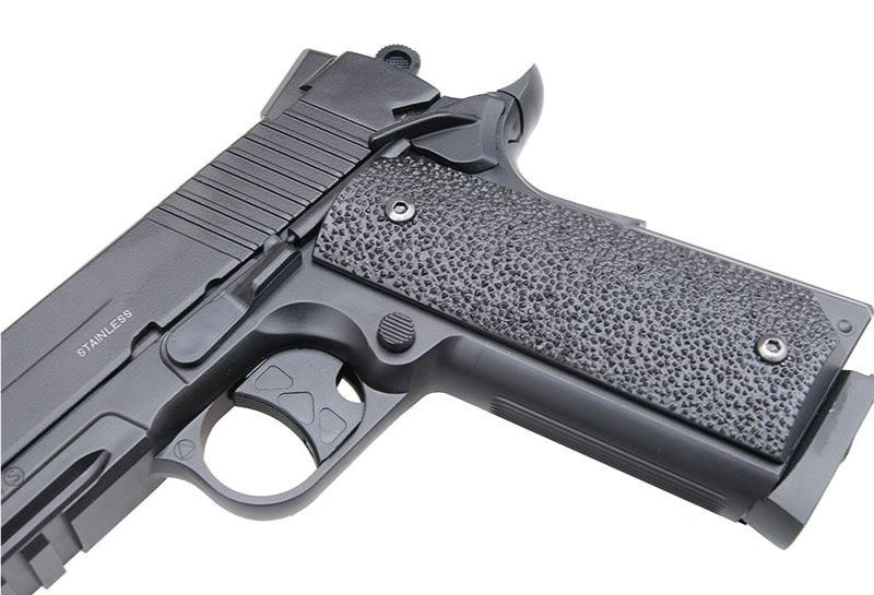Pistola de Pressão SWISS ARMS CO2 SA 1911 4,5MM + cilindro