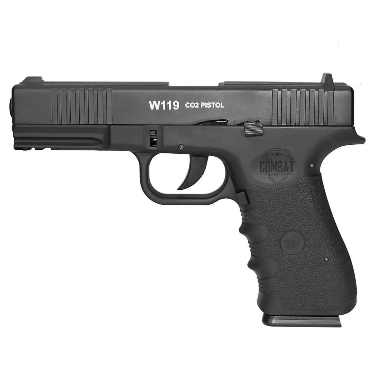 Pistola Pressão Co2 WG W119 Metal Blowback 4,5mm Mostruário