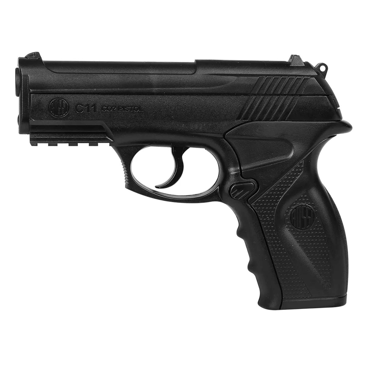 Pistola Pressão Gas Co2 Wg C11 Rossi Polímero Esferas Aço 4,5mm