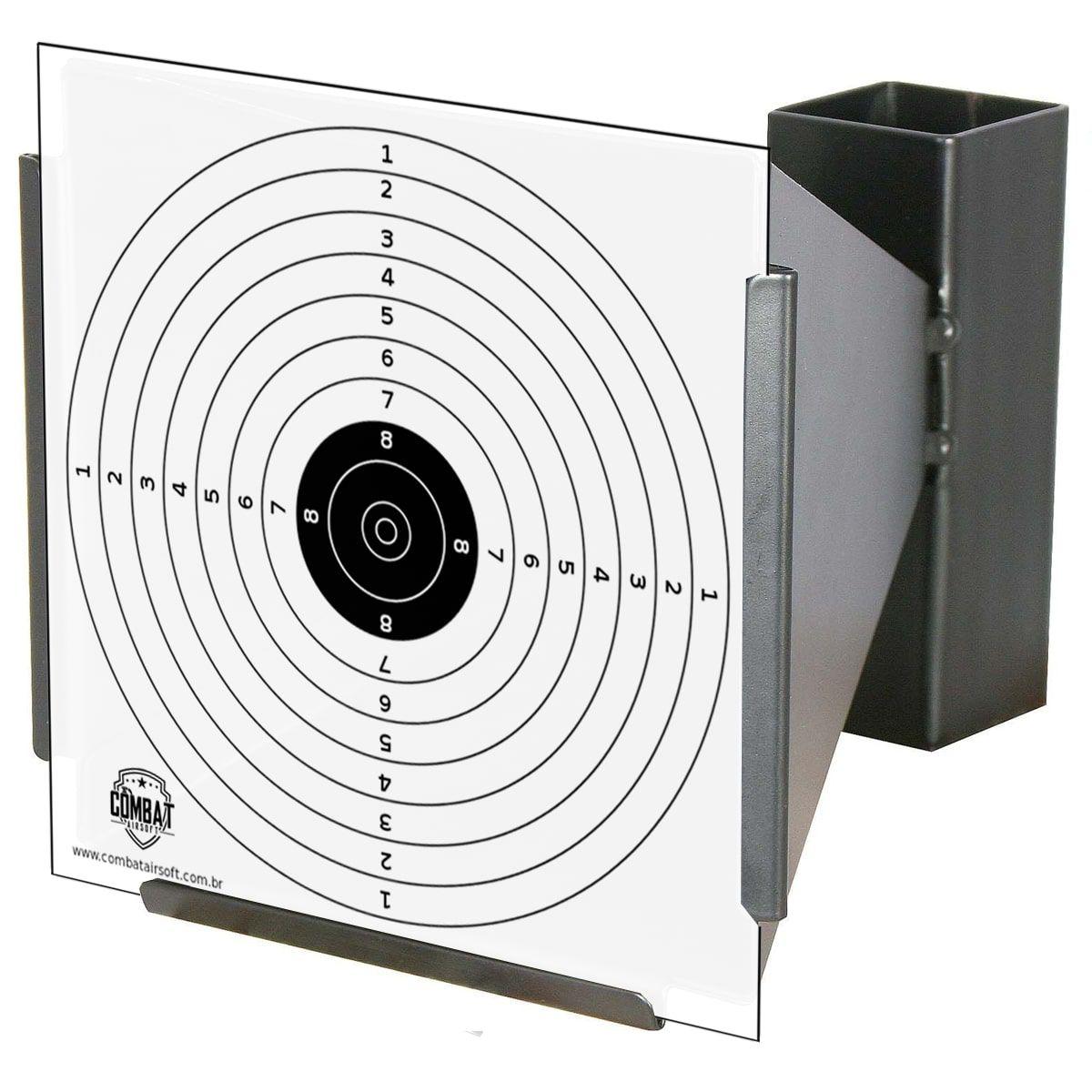 Porta Alvo Coletor De Chumbinho 14x14cm Combat