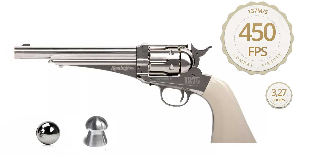 Revolver De Pressão Co2 Crosman Remington 1875 - Full Metal