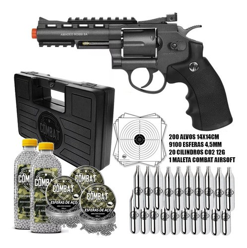 Revolver Full Metal Co2 Rossi Wg 701 4.5mm + Super Kit