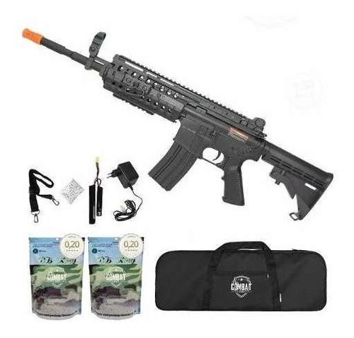Rifle Airsoft Cyma M4a1 Ris Cm508 Elétrico Bivolt+ Capa+ Bbs