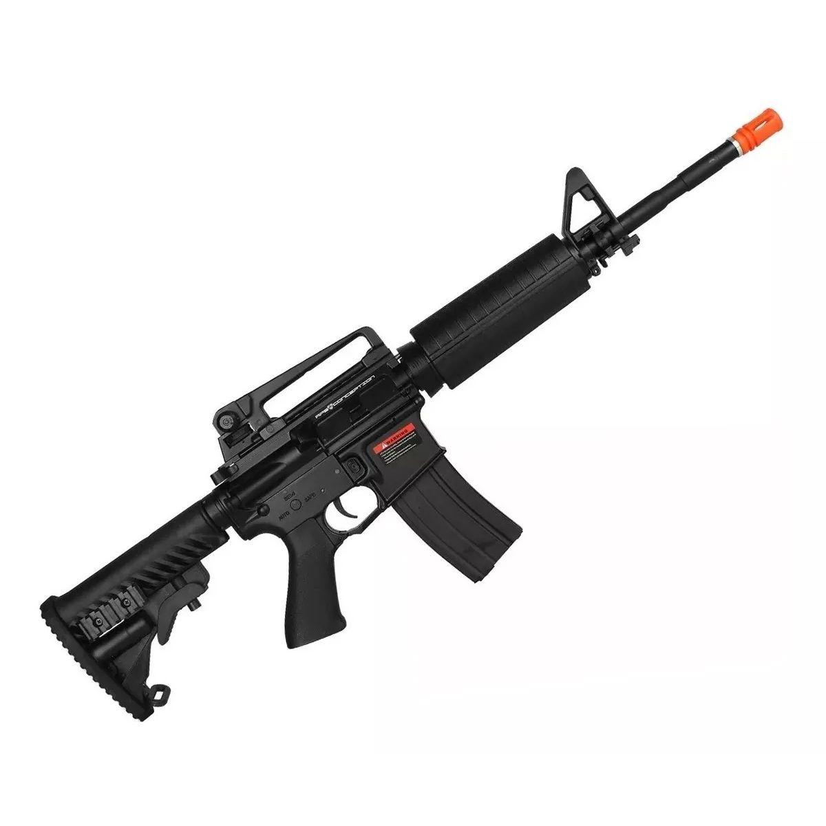 Rifle Airsoft Elétrico Aeg M4a1 Blow Black Full Metal Asr101