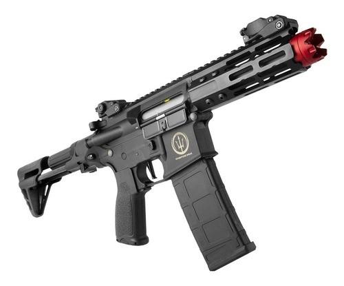 Rifle Airsoft Elétrico Aeg Rossi Neptune Ar15 Pdw Keymod