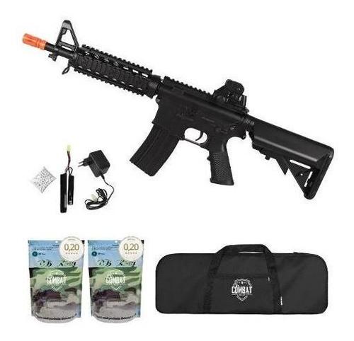 Rifle Airsoft Elétrico Cyma M4a1 Cm506 Ris Cqb + Bbs + Capa