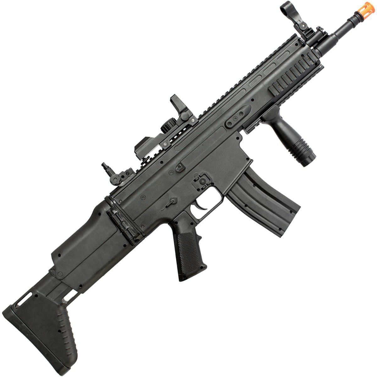 Rifle de Airsoft FN Scar-L Spring/Mola Preto - Cal 6mm - Cybergun