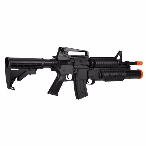 Rifle de Airsoft M4A1 M813 AEG com Lançador Shotgun 6mm