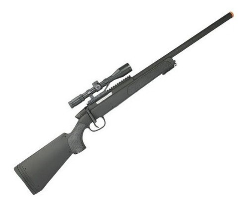 Rifle De Airsoft Sniper Swiss Arms Black Eagle M6 Spring 6mm