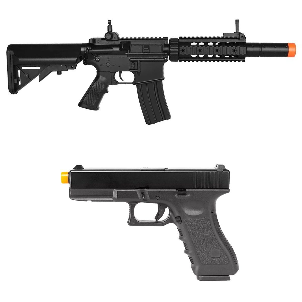 Rifle Elétrico Airsoft Cyma M4a1 Cm513 + Pist Glock R17 Army