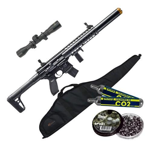 Rifle Pressão Co2 Sig Sauer Mcx 4,5 Fullmetal + Kit Completo