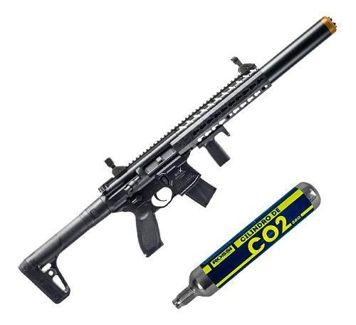 Rifle Pressão Co2 Sig Sauer Mcx 4,5mm Fullmetal + Cilindro